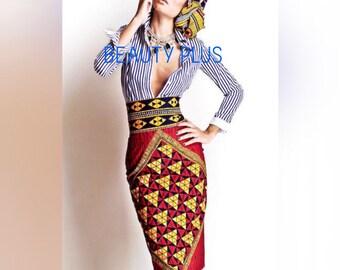 e001440eff Ankara pencil skirt,African prints skirt,African fabric skirt,African  clothing straight skirt,African wax skirt.