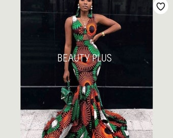 403cffcb33020 African women clothing/ African dress for engagement /African fit and flare  dress for balls/African fitted dress for occasions.T100