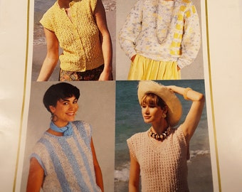 48a230fbd Wendy Knitting Patterns Vintage Long Sleeved Pullover Sleeveless pullover