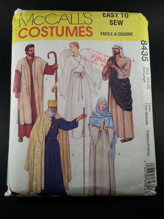 Nativity costume Patterns McCall\'s 8435 Easy Sew Adult | Etsy