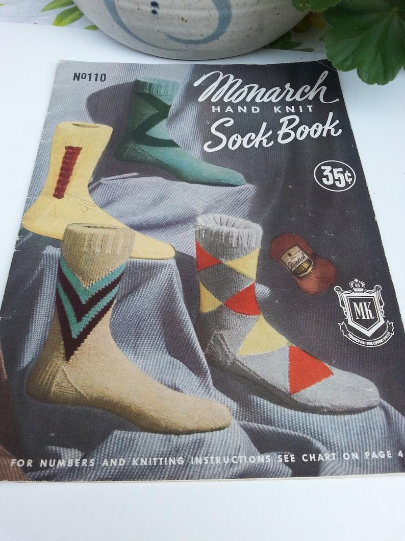 Sock Knitting Pattern Book Monarch Vintage1954 Mens Socks Etsy