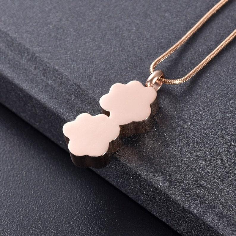 Pet Paw Necklace Rose Gold Pendant Ashes Urn Cat Puppy Pet Ashes Urn Necklace Pendant Dog Memorial Keepsake Cremation Jewellery