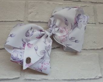 """Girls large 8"""" inch Lilac & Pink Unicorn boutique hair bow with alligator clip like JoJo Siwa Bows Signature Keeper Dance Moms summer"""