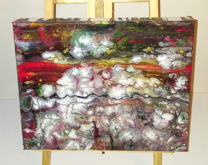 "8""×10""×1.5"" Resin abstract art, fluid art, abstract painting, resin abstracts, small artwork, poured acrylics, painting, art"