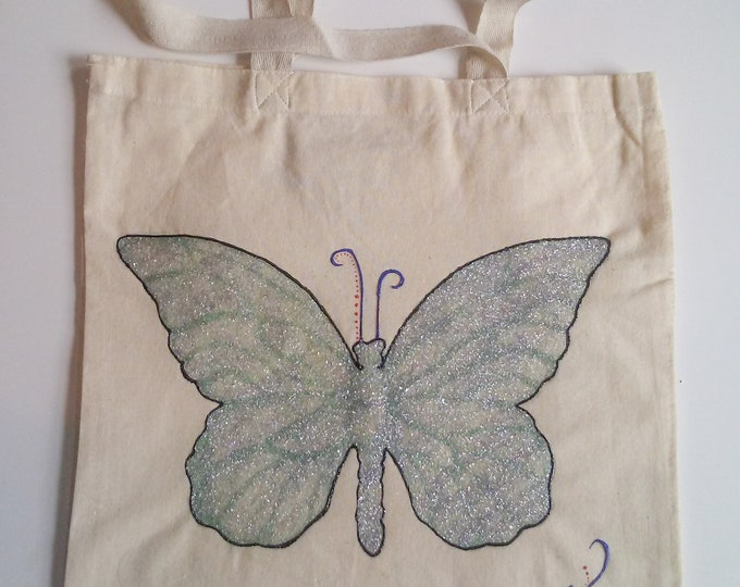 Wearable art, tote bag, abstract bag, Autism Awareness Bags- Mya's Tote Bags