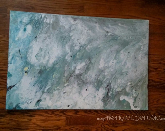 "24""×36"" Smog- abstract painting, original canvas art, acrylics on canvas, art decor"