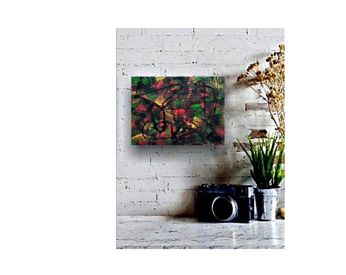 Small abstract painting, small canvas art, abstract painting, original paintings, wall art, wall decor, small art paintings