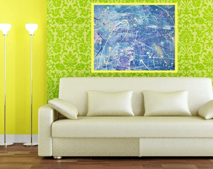"22""×28"" Abstract art for your walls,painting,modern art, home art decor, wall art, home decor- Brush Stroke Splatter"