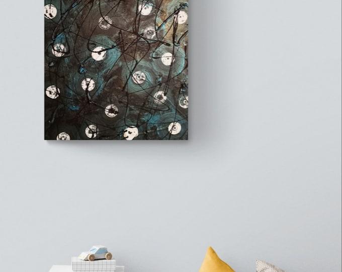 "Original Abstract Painting 16""×20"" textured acrylic home art decor"