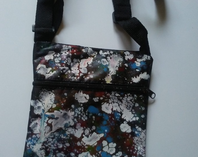 Wearable Art- Handpainted Crossbody Bag