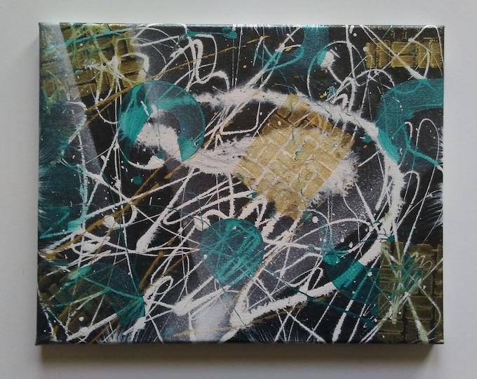 Spray paint art, mixed media art, abstract art, art, wall decor, abstract wall decor,