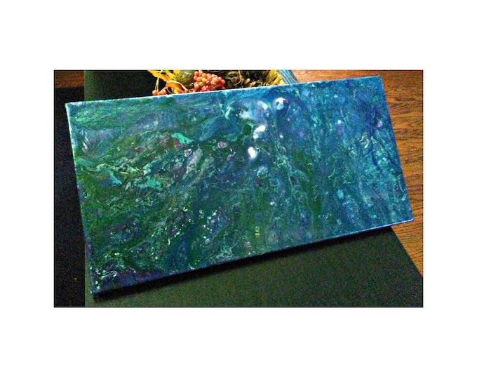 "Featured listing image: Flat World- 10""×20"" Abstraction on canvas"