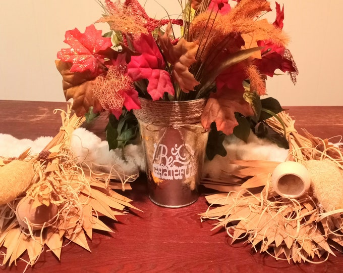 Decorative Metal Vase- Be Grateful