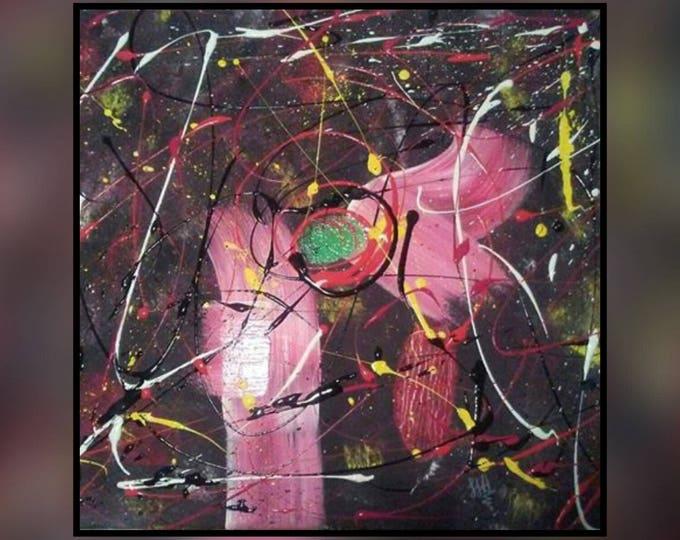 Abstract art, abstract painting, wall art decor, home art decor, wall art, art, abstract painting, acrylic art- Green Eyed Monster