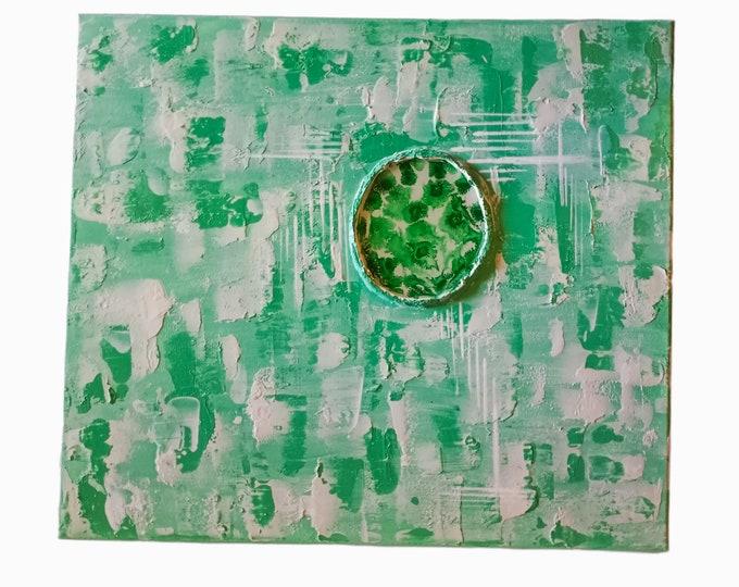 "Textured Abstract Resin artwork 16""×20"" Caulk Art Ready-to-hang Home Decor Artwork Abstract Art Original Canvas Art"