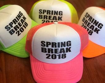 6827431f0cf SPRING BREAK 2019 custom hat customize your hat  neon trucker hat