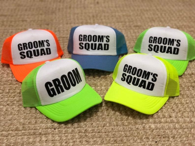 310851b9 GROOM SQUAD bachelorette hats Bachelor hats bachelor | Etsy