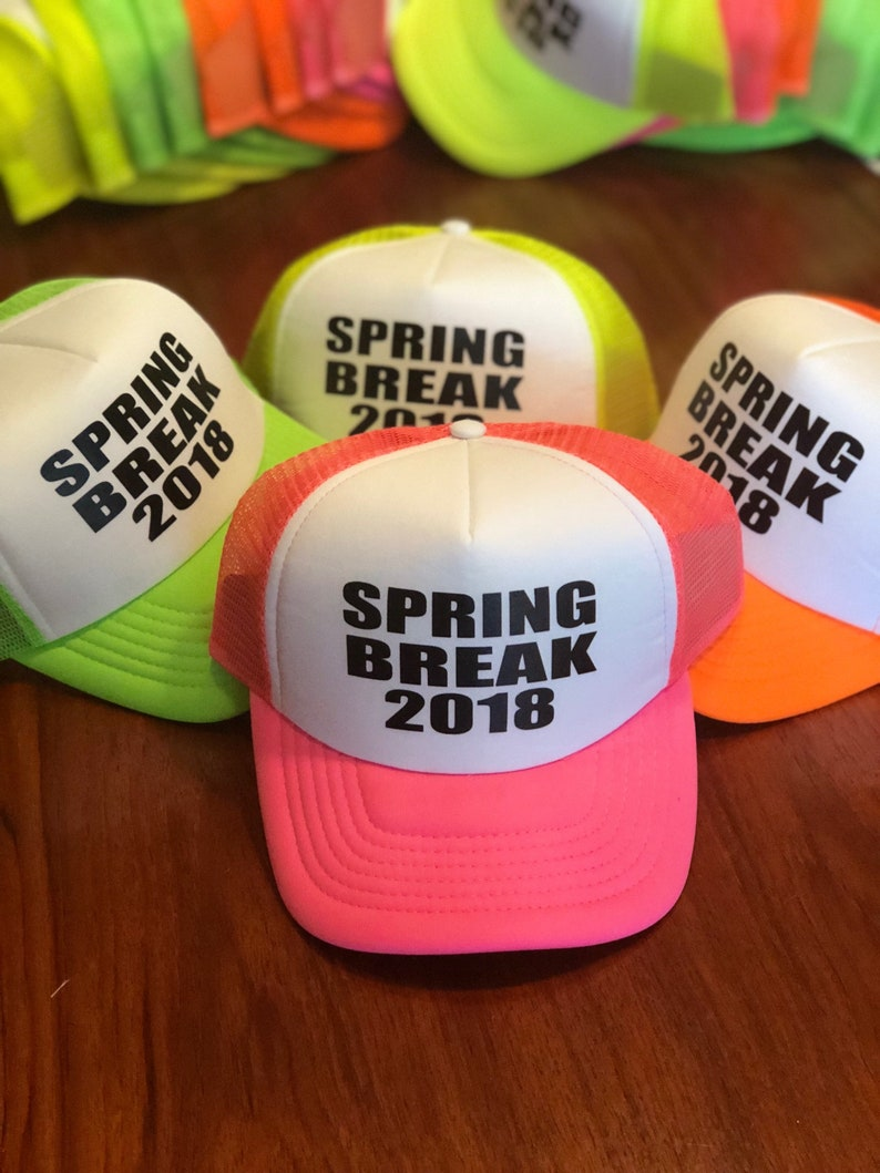 SPRING BREAK 2019custom hatcustomize your hat neon trucker  eff27cb203f