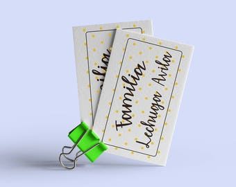 Tarjeta de Papel Opalina Personalizada