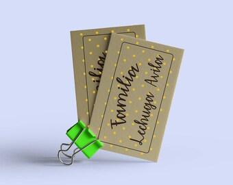 Tarjeta de Papel Kraft Personalizada, Invitación, Boleto, Regalo