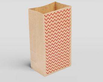Bolsa Papel Kraft Preimpresa Premium Diseños Geométricos