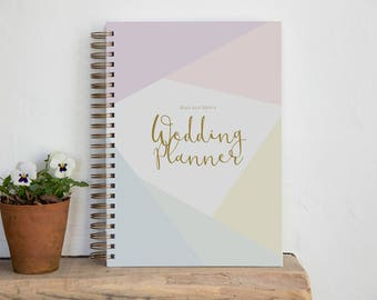A4/A5 Personalised Wedding Planner - Diamond Design   Custom Wedding Organiser   Personalised Wedding Journal   Engagement Gift for Brides
