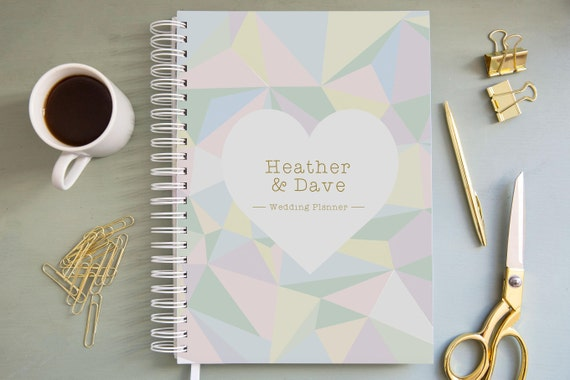 A4A5 Personalised Wedding Guest Book Crystal Dream Design