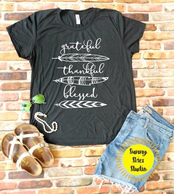 b80c6ed3 Grateful Thankful Blessed Triblend Shirt Vintage Feel Shirt | Etsy