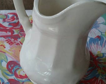 "Antique Vintage  white creamer pitcher 4"".toothpick"