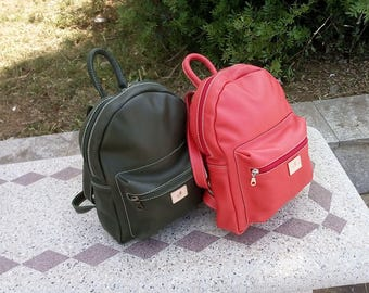 Leather backpack, Leather Backpack, Laptop Backpack, Handmade, Made in Italy
