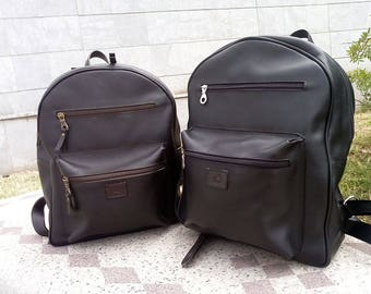 Backpack leather, leather backpack, Laptop backpack, Handmade, Made in Italy
