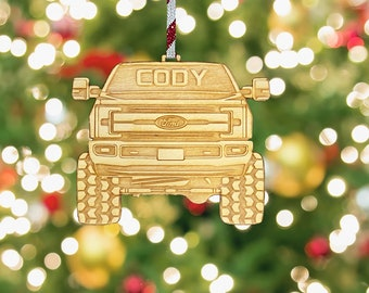 Ford F150 F250 F350 Ornament- Pickup Truck Christmas Tree Decoration - Ford Ornament- Ford Baubles- Super Duty Christmas Gift