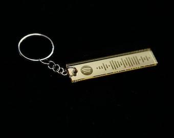 Personalized Spotify Code Keychain | Custom Spotify Keychain | Spotify Keychain | Wooden Keychain