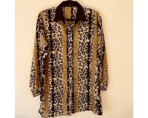 Leopard Print Dress/ T Shirt Dress/ Leopard Print