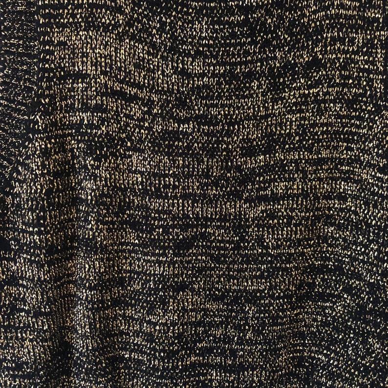 Cropped Turtleneck Sweater Metallic Sweater Mock Neck Sweater Sleeveless Sweater Gold Sweater