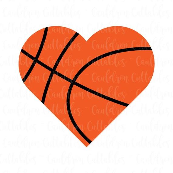 basketball heart svg file love basketball clipart sports etsy rh etsy com Heart Basketball On Fire Graphic Gold Heart Clip Art Basketball