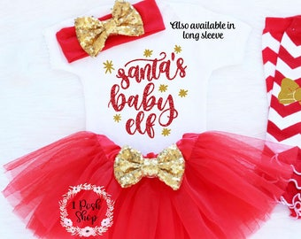 cb7adb512 pre order baby girls first christmas outfit 3 piece christmas outfit ...