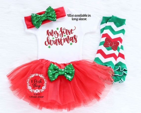 image 0 - Baby First Christmas Outfit Girl First Christmas Outfit Baby Etsy