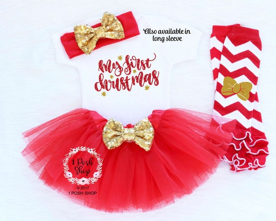 image 0 - Baby Girl First Christmas Baby First Christmas Outfit Girl Etsy
