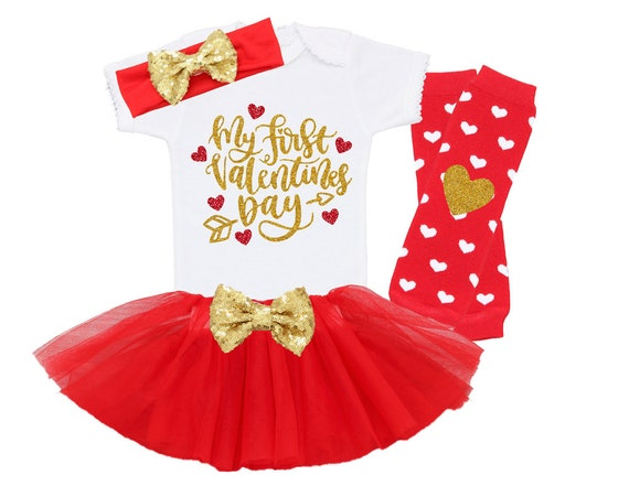 88f3ed0ae7449 My First Valentines Baby Girl Outfit, Baby Girl First Valentine's Day  Outfit, Cute Valentine's Day Outfit, First Valentines Day Outfit Girl