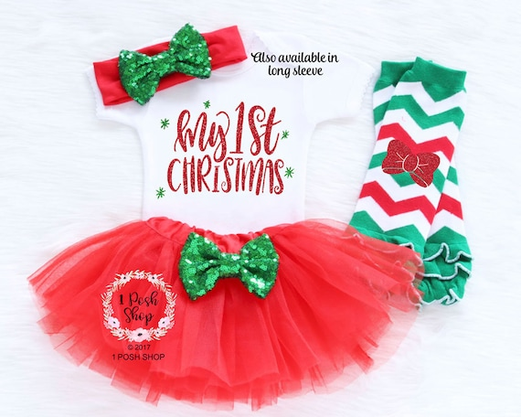 image 0 - Baby First Christmas Outfit Baby First Christmas Bodysuit Etsy