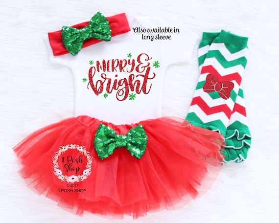 image 0 - Baby First Christmas Outfit Girl My First Christmas Baby Etsy