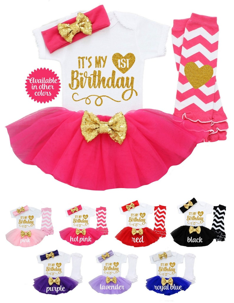1799cbb0aadf3 1 Year Baby Girl Dress First Birthday Gift Its My 1st Birthday Outfit Girl  Tutus Pink and Gold First Princess Shirt