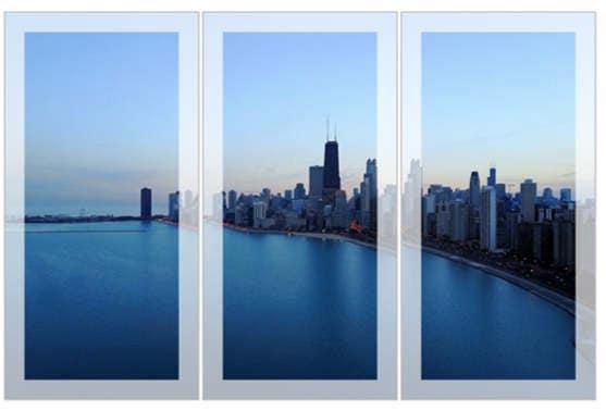 3 Panel: Sunset Over Chicago - Wall Art, Office Art, Chicago Art ...