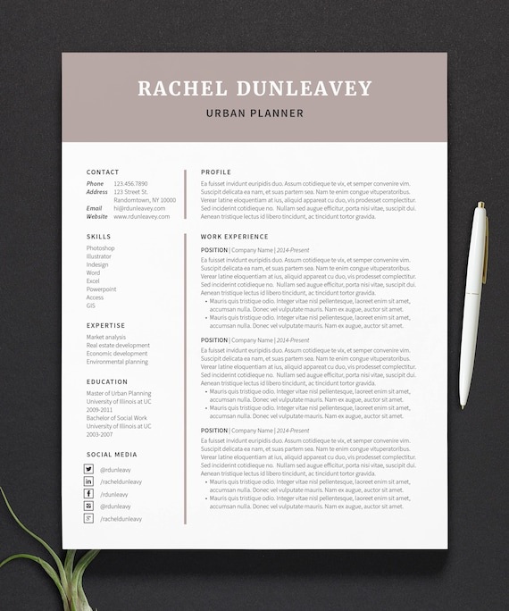 modern resume and cover letter template for word pages icon