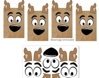 Scooby Doo Favor Bags Printables -- DIGITAL -- Party Bag Printables