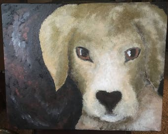 Yellow Lab Canvas Painting