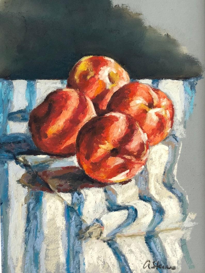 Impressionist Painting of Peaches Print of original artwork image 0