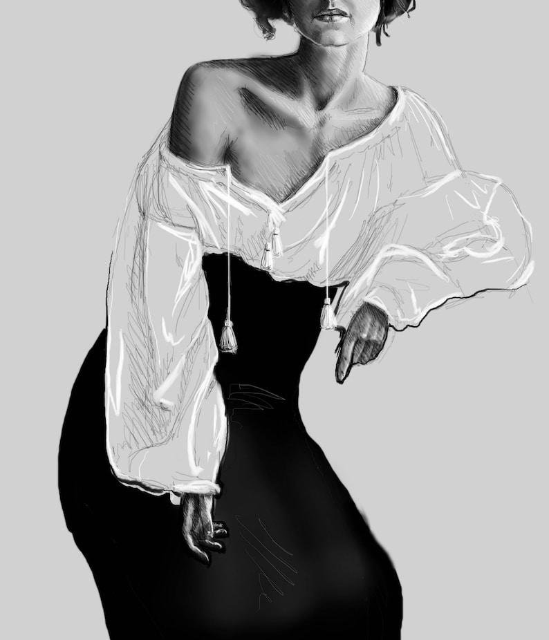 Bohemian Print of original artwork by Amanda Steines digital image 0