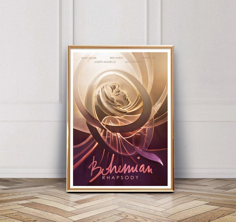 Bohemian Rhapsody poster | Queen film | alternative movie posters | Freddie  Mercury borhap film